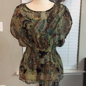 Shear top with built in cami